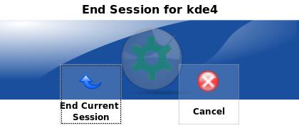KDE 4 Logout
