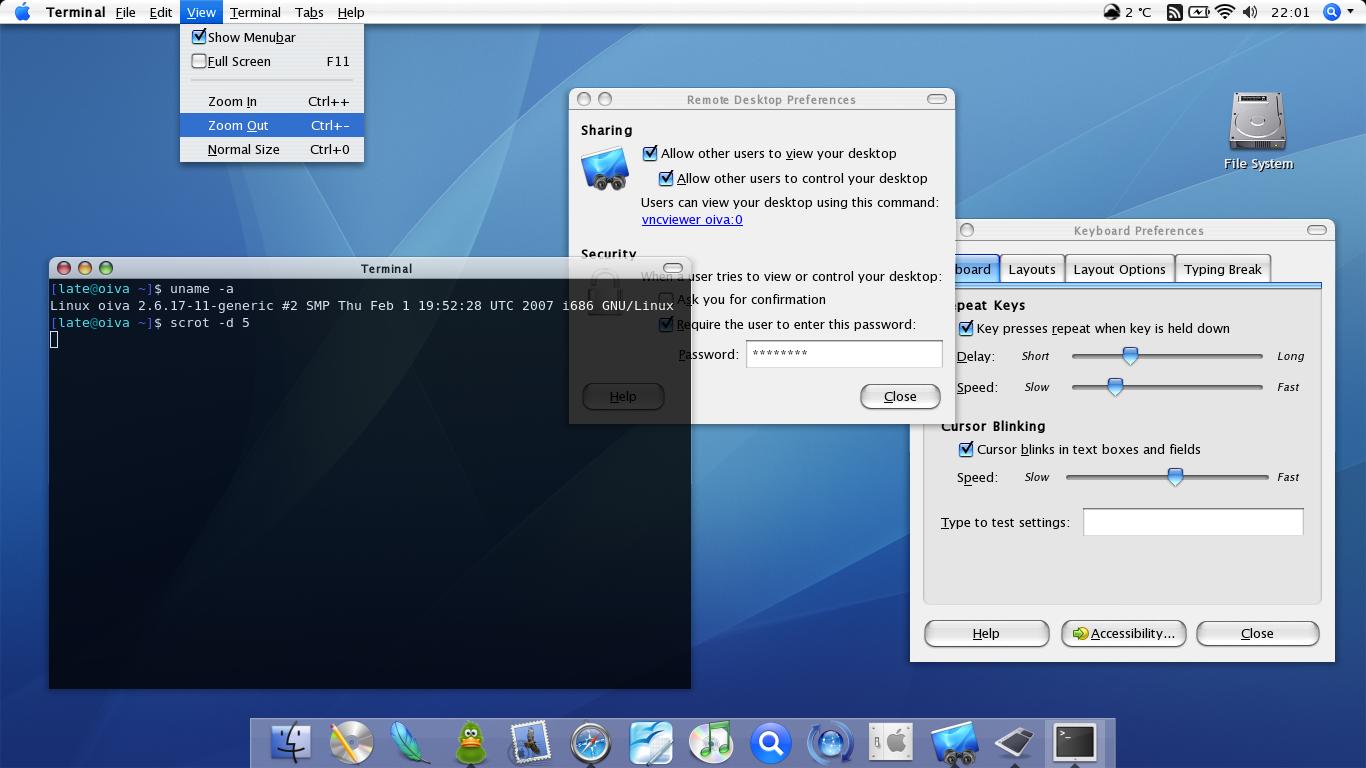 KDE 3 3] ac OS X 10 3 wannabe [2004] : unixporn