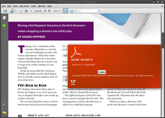 Adobe Reader 8.1.1 for Linux 屏幕截图