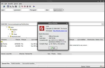 FileZilla 屏幕截图