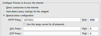 Firefox     代理设置
