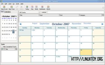 Sunbird 0.7 屏幕截图