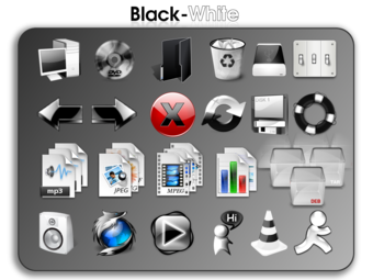 Black-white icon theme
