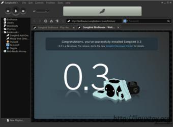 Songbird 0.3 屏幕截图