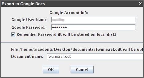 OpenOffice.org2GoogleDocs