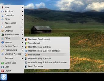 KDE 4.0 启动菜单