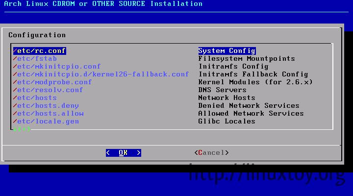 Arch Linux 安装截图