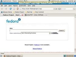 Fedora 8 Test 2 屏幕截图