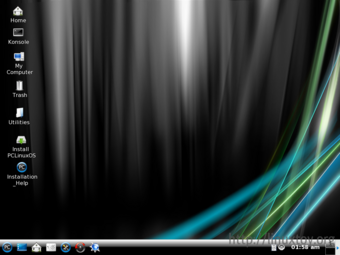 PCLinuxOS 2008 迷你版桌面截图