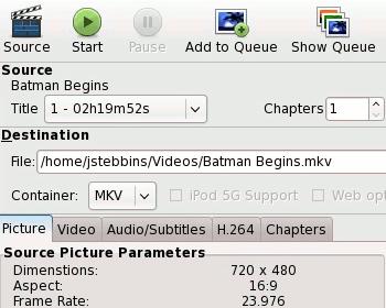 HandBrake Linux GUI